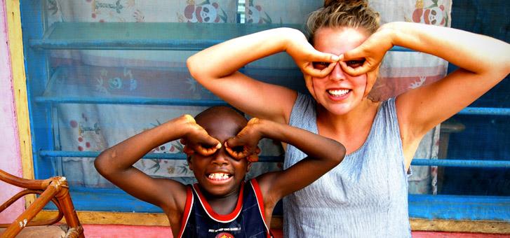 frivillig i afrika