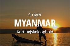 Kort højskoleophold i Myanmar med frivilligt arbejde