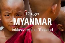 Højskoleophold i Myanmar for unge inklusiv rejse til Thailand